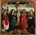 Maître de la Légende de sainte Ursule - Christ en croix avec saintes.jpg