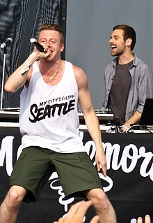 Macklemore & Ryan Lewis at Sasquatch! Music Festival, in 2012