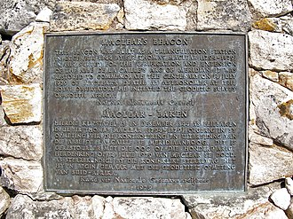 The plaque at Maclear's beacon at the highest point on Table Mountain (and the Cape Peninsula) at 1084 m. It commemorates Maclear's recalculation of the curvature of the earth in the Southern Hemisphere. In 1750, Abbe Nicolas Louis de Lacaille had measured the curvature of a meridian arc northwards from Cape Town, to determine the figure of the earth, and found that the curvature of the earth was less in southern latitudes than at corresponding northern ones (i.e. that the earth was slightly pear-shaped, with the wider bulge south of the equator). However, when Sir George Everest visited the Cape in 1820 and inspected the site of La Caille's measurements in Cape Town, he suggested to Maclear that the gravitational effect of Table Mountain could have caused a miscalculation of the curvature of the meridian. This was based on Everest's experience in the Himalayas. Taking this factor into account Maclear established the curvature of the Southern Hemisphere was in fact the same as that of the Northern Hemisphere. Maclear's Beacon text.jpg