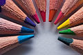 Macro of sharpened colored pencils arranged in a circle.jpg