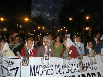 Mothers of the Plaza de Mayo - The Madres de la Plaza de Mayo march in October 2006