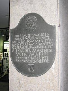 Alessandro, Marquis de Maffei German army commander