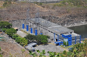 Magat Dam - The Magat power plant, located at the base of the dam.