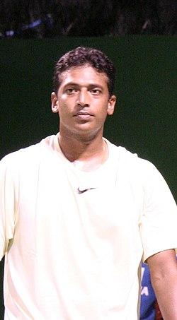 Mahesh Bhupathi 2007 Australian Open mens doubles R1.jpg