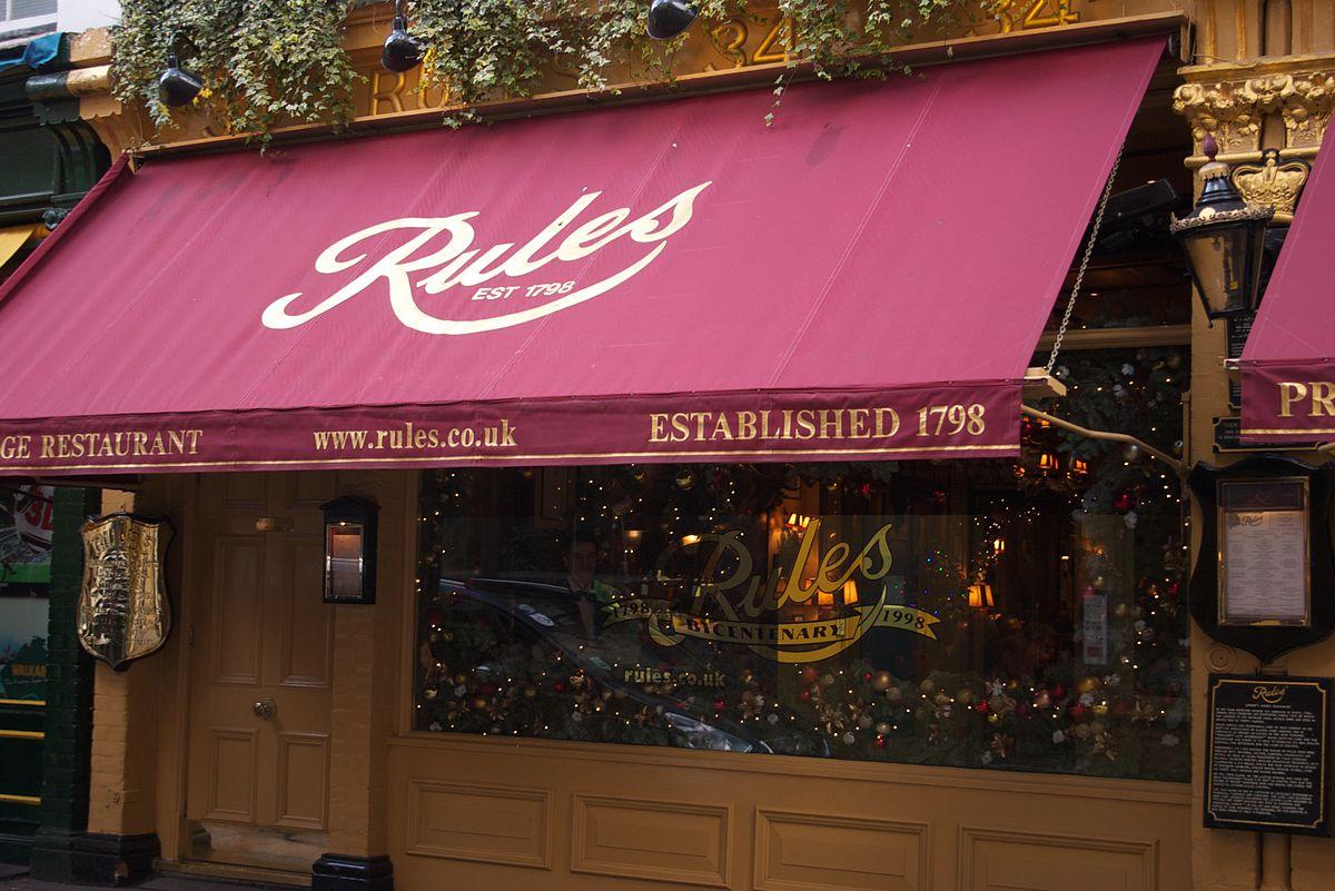 Rules Restaurant Covent Gardens