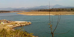 Main Ganga river, before the Bhimgoda barrage, Haridwar
