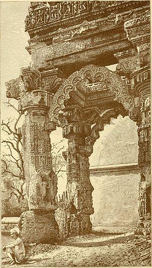 Siddhpur - Main Portal of the Ruins of the Rudramala at Sidhpur in  1905