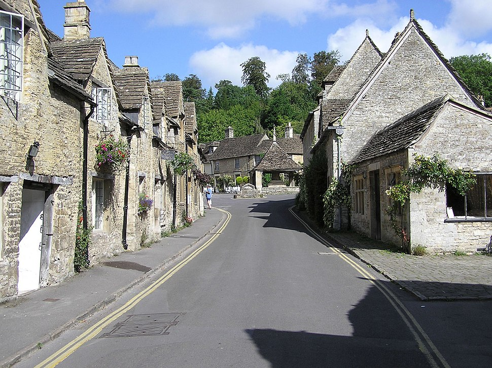 Main street of the village of Castle Combe, Wiltshire, England