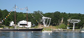 Maine Maritime Museum - Image: Maine Maritime Museum waterfront
