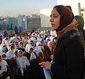 Malalai Joya visits a girls school in Farah province in Afghanistan.jpg