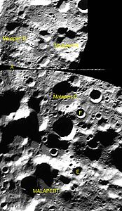 Malapert sattelite craters map.jpg
