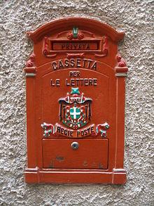 Postgeschichte Und Briefmarken Von Italien Wikipedia
