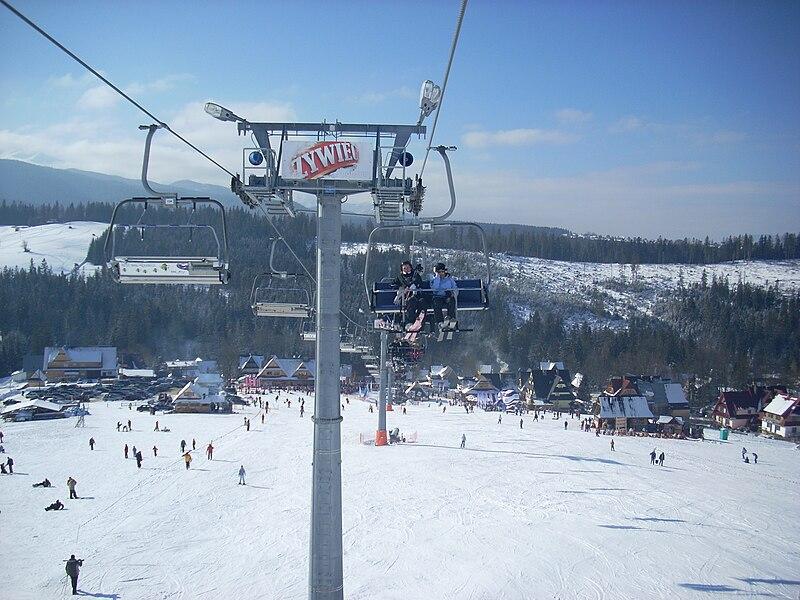 The Male Ciche ski resort, Poland.