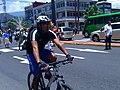 Man on bicycle in Real Street in Orizaba.jpg