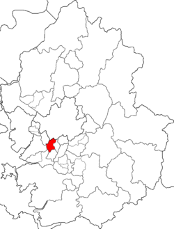 Map of Gyeonggi-do highlighting Manan-gu.
