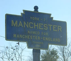 Official logo of Manchester, Pennsylvania