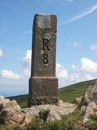 France–Spain border - A border marker between Vera de Bidasoa and Biriatou