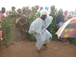 Mandinka Dancing, Women's Cultural Celebration, Gambia 2006.jpg