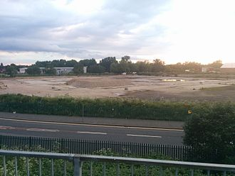 Manor Ground (Plumstead) - The site of the Manor Ground as viewed from its southern border in May 2016