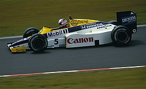 Williams FW10 - Image: Mansell Williams 1985