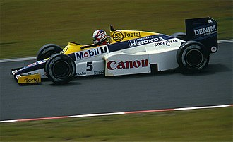 Formula One drivers from the United Kingdom - Nigel Mansell in a Williams in 1985