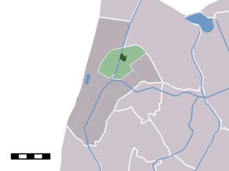 't Zand, Schagen - Image: Map NL Zijpe 't Zand