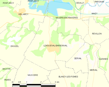 Map of Longueval-Barbonval