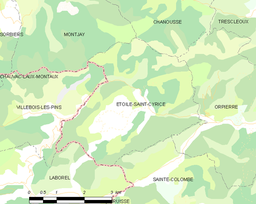 Map commune FR insee code 05051.png