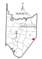 Map of Atwood, Armstrong County, Pennsylvania Highlighted.png