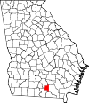 Map of Georgia highlighting Lanier County.svg