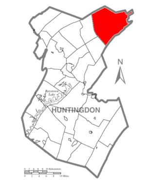 Jackson Township, Huntingdon County, Pennsylvania - Image: Map of Huntingdon County, Pennsylvania Highlighting Jackson Township