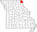 Map of Missouri highlighting Clark County.png