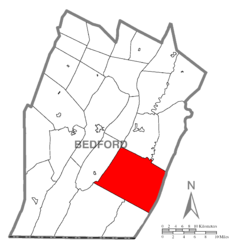 Map of Monroe Township, Bedford County, Pennsylvania Highlighted.png
