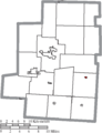 Map of Morrow County Ohio Highlighting Chesterville Village.png