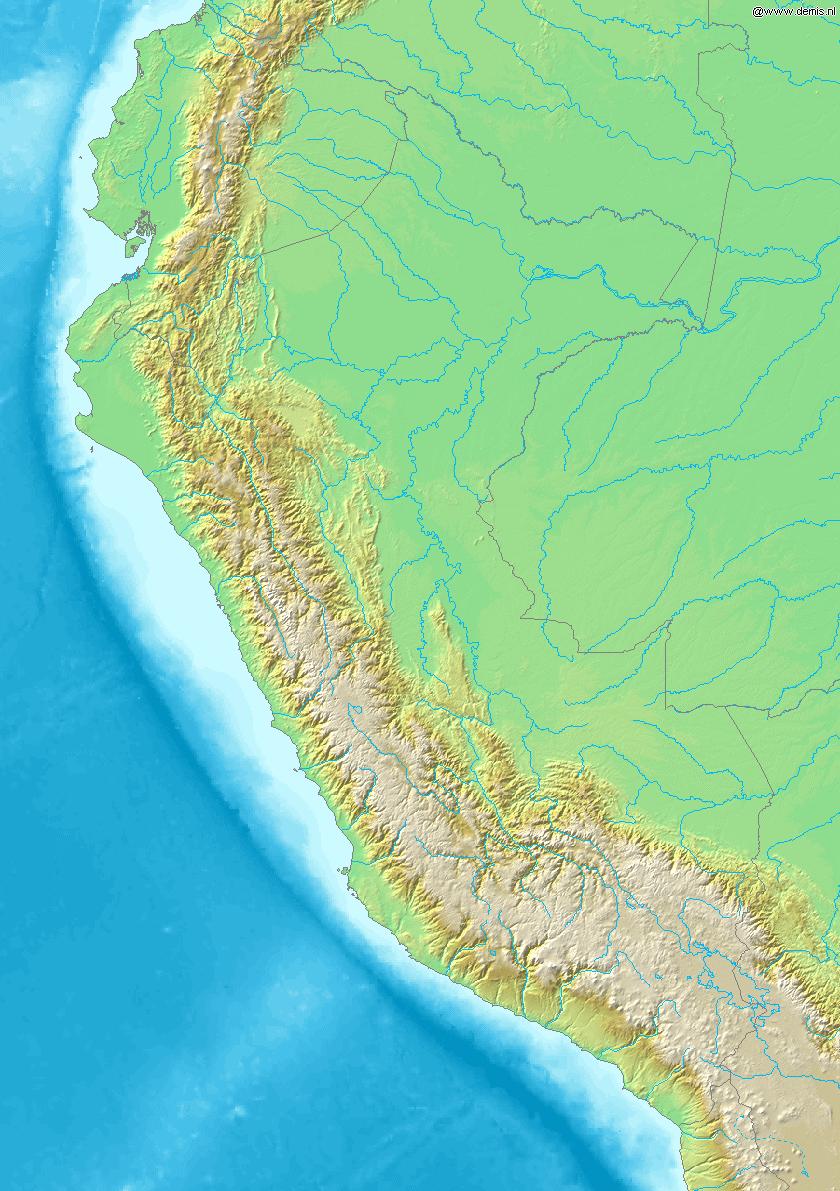 Map of Peru Demis