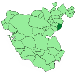 Location of Villaluenga del Rosario