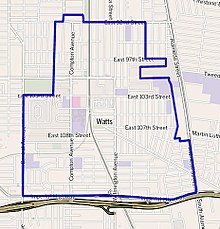 Map of Watts neighborhood, Los Angeles, California.jpg