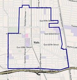 The events surrounding the watts neighborhood riots in california