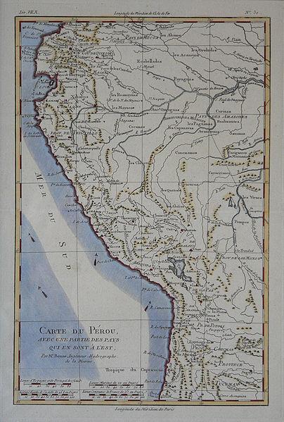 Guerra contra la Confederación Perú-Boliviana (1836-1839) 404px-MapaPer%C3%BA.RigobertBonne1