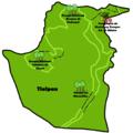 Mapa de los lugares de interés de la delegación Tlalpan.png