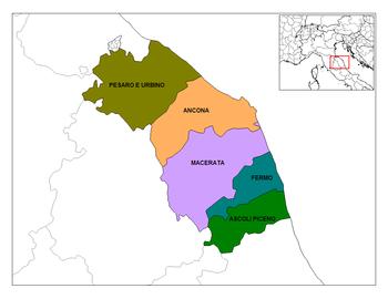 La regione Marche e le sue 5 province