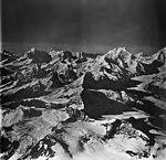 Margerie Glacier, tidewater glacier and cirque glaciers, September 12, 1973 (GLACIERS 5631).jpg