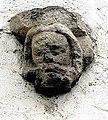 Maria Gail Pfarrkirche Chorsuedwand aussen Kopf baertiger Mann 12012008 02.jpg