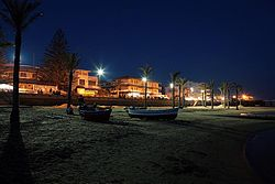 The seafront by night