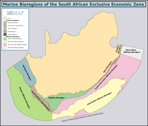 Recreational dive sites - Marine bioregions of the South African coast