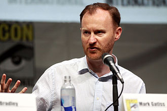 Gatiss at the 2013 San Diego Comic-Con, promoting Doctor Who Mark Gatiss (9362666697).jpg