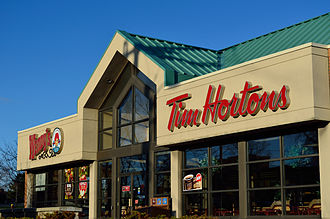 Tim Hortons - A Tim Hortons/Wendy's joint restaurant in Markham, Ontario in 2015.