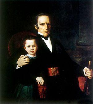 Rafael Maroto - Rafael Maroto with his niece Margarita Borgoño, painting by Raymond Monvoisin
