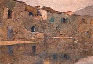 Michalis Oikonomou - Image: Martigues, painting by Michalis Oikonomou, 1913