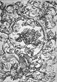 Martin Schongauer - Hochfüllung mit Eule und anderen Vögeln (L 115).jpg